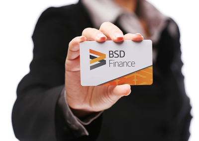 Logo en visitekaartje BSD Finance