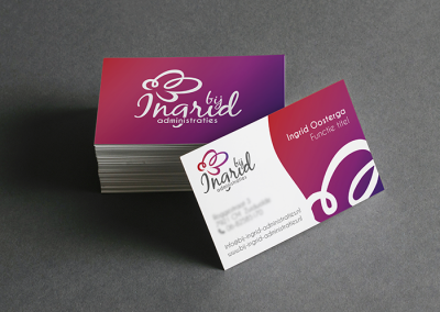 Logo & vistekaartjes Bij Ingrid