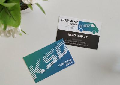 Visitekaartje en logo KSD