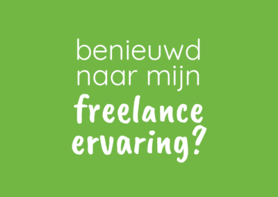 Freelance ervaring
